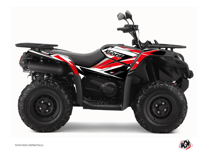 CF MOTO CFORCE 450 S ATV Stage Graphic Kit Black Red