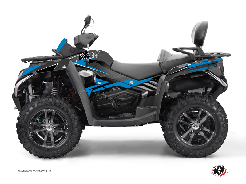 CF MOTO CFORCE 800 S ATV Stage Graphic Kit Blue Black