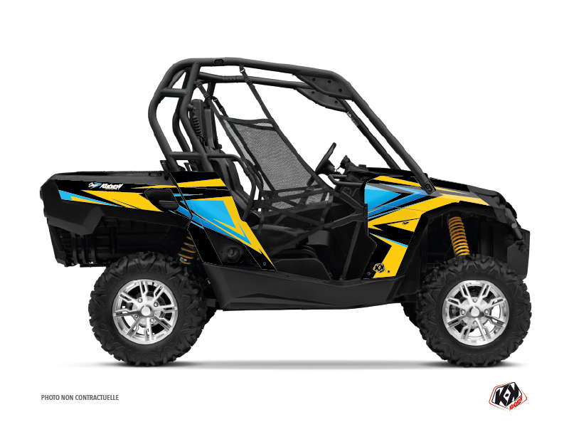 Can Am Commander UTV Stage Graphic Kit Yellow Blue