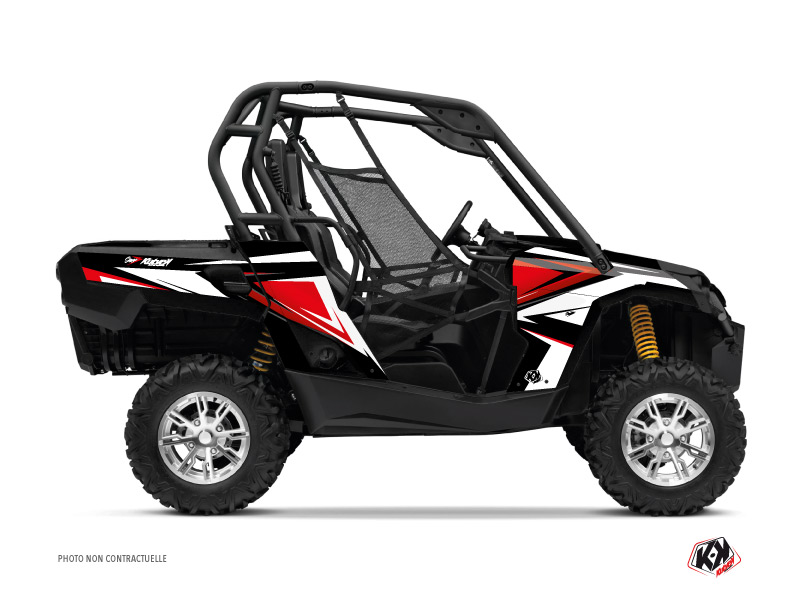 Can Am Commander UTV Stage Graphic Kit Black Red