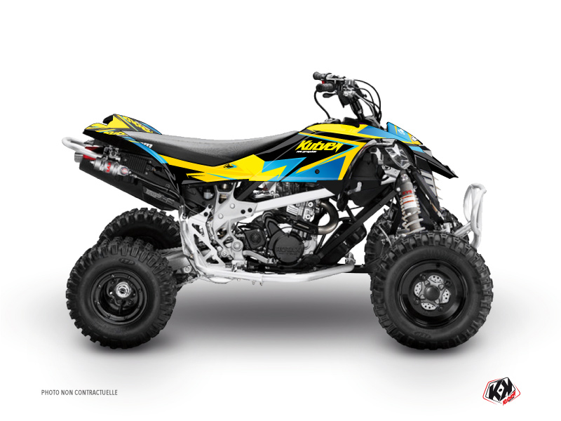Can Am DS 450 ATV Stage Graphic Kit Yellow Blue