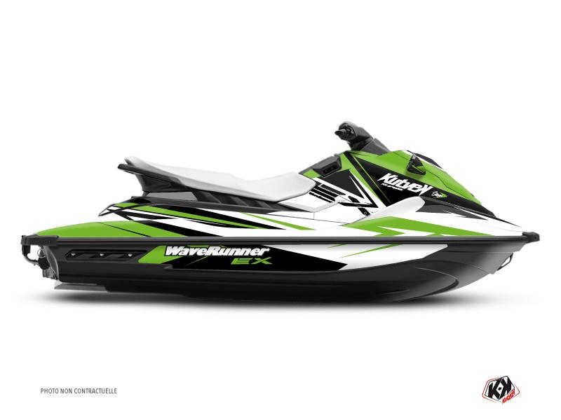 Yamaha EX Jet-Ski Stage Graphic Kit White Green