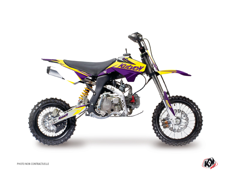 YCF F125 Dirt Bike Stage Graphic Kit Yellow Purple