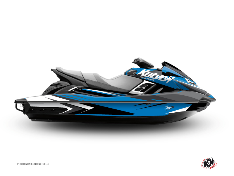 Yamaha FZR-FZS Jet-Ski Stage Graphic Kit Blue Black