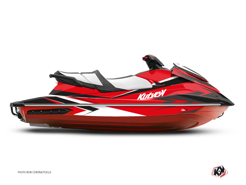 Yamaha GP 1800 Jet-Ski Stage Graphic Kit Red Black