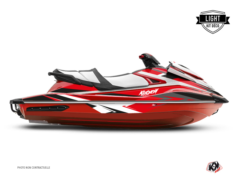 Yamaha GP 1800 Jet-Ski Stage Graphic Kit Red Black LIGHT
