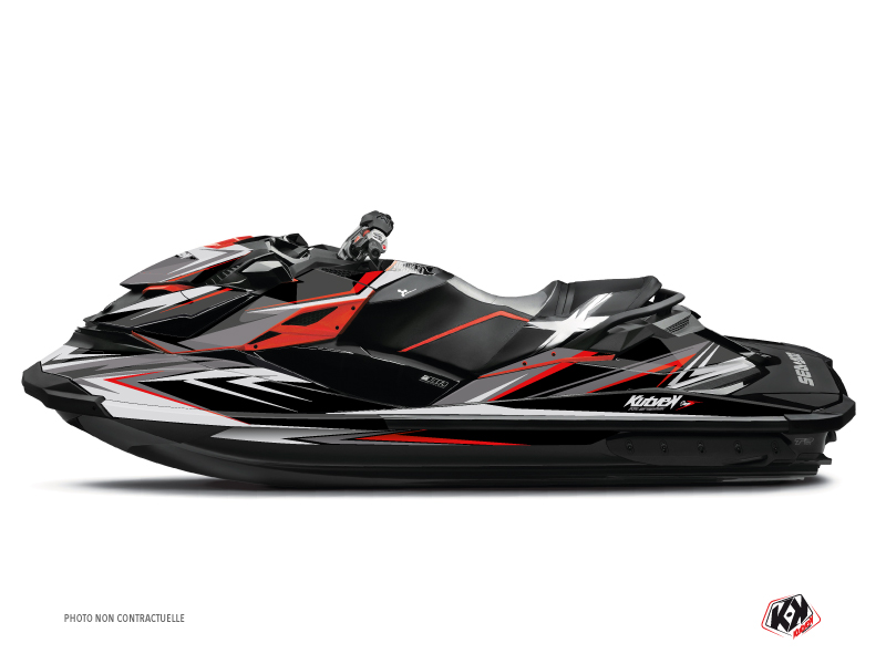 Seadoo GTR-GTI Jet-Ski Stage Graphic Kit Grey Red