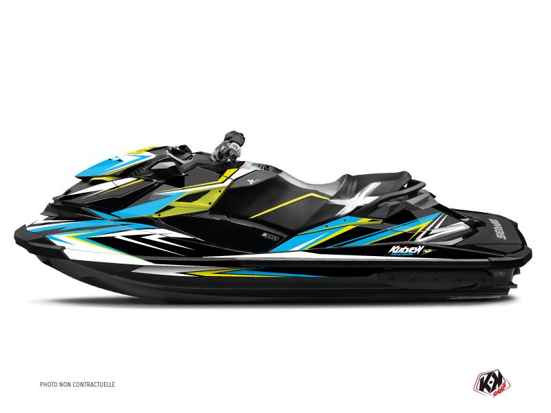 Seadoo GTR-GTI Jet-Ski Stage Graphic Kit Yellow Blue