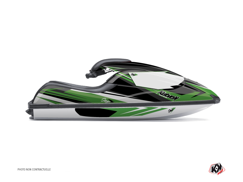Kawasaki Jet X2 Jet-Ski Stage Graphic Kit Green