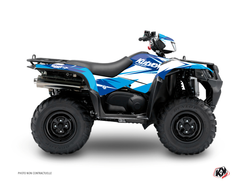 Suzuki King Quad 750 ATV Stage Graphic Kit Blue