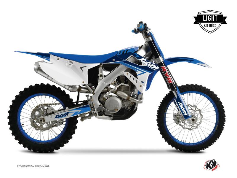 TM MX 125 Dirt Bike Stage Graphic Kit Blue LIGHT