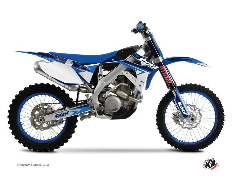 TM MX 250 Dirt Bike Stage Graphic Kit Blue