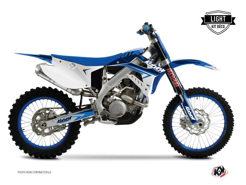 TM MX 450 FI Dirt Bike Stage Graphic Kit Blue LIGHT