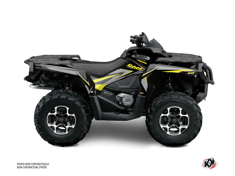Can Am Outlander 1000 ATV Stage Graphic Kit Neon Grey