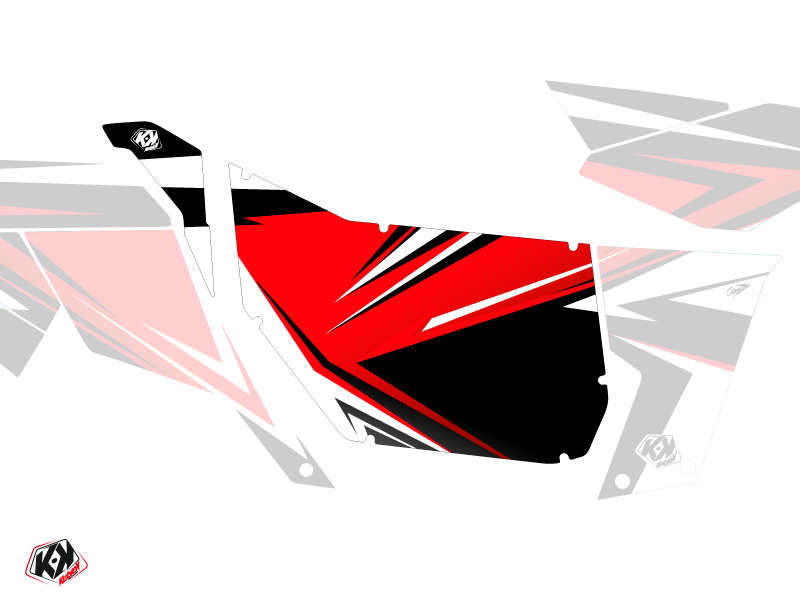 Graphic Kit Doors Suicide Pro Armor Stage Can Am Maverick 2012-2017 Black Red