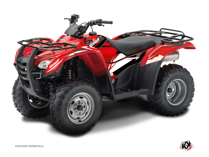 Honda Rancher 420 ATV Stage Graphic Kit Black Red