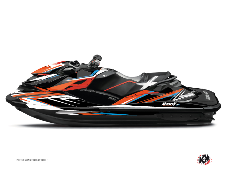 Seadoo RXT-GTX Jet-Ski Stage Graphic Kit Orange Blue