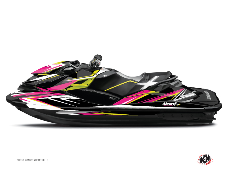 Seadoo RXT-GTX Jet-Ski Stage Graphic Kit Pink