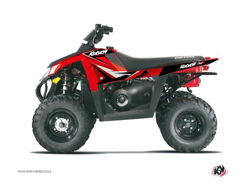 Polaris Scrambler 500 ATV Stage Graphic Kit Red