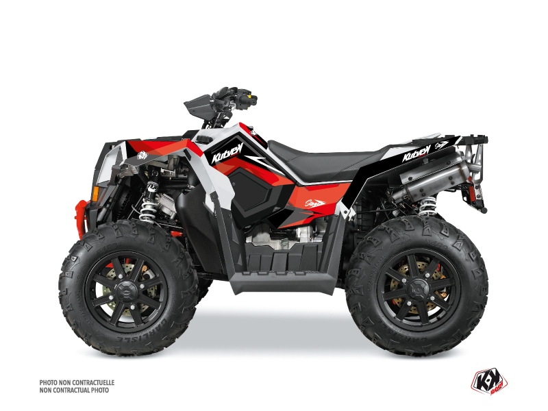 Polaris Scrambler 850-1000 XP ATV Stage Graphic Kit Red