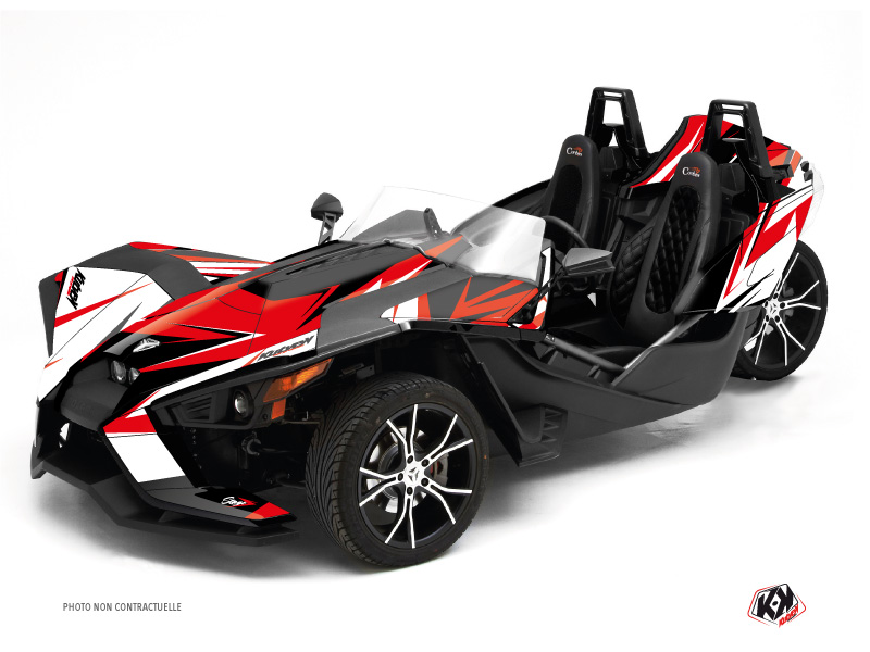 Polaris Slingshot Roadster Stage Graphic Kit Red