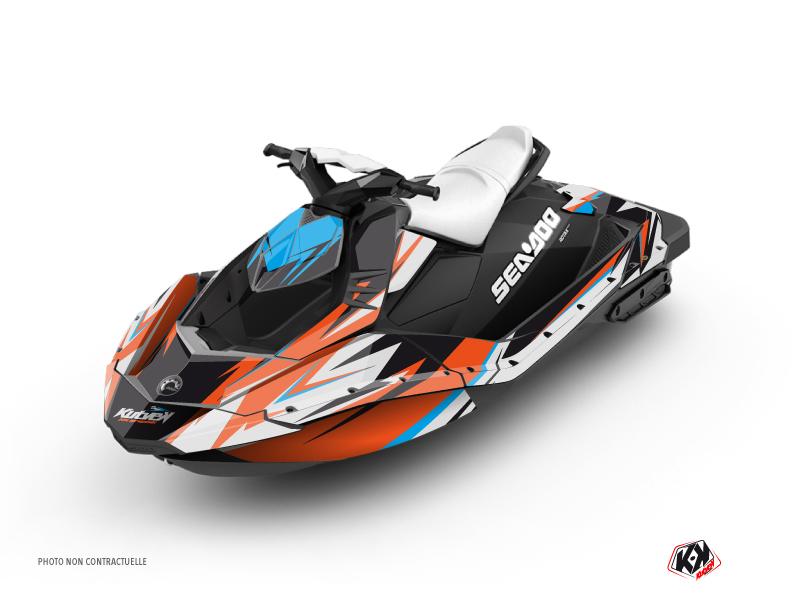 Kit Déco Jet-Ski Stage Seadoo Spark Orange Bleu