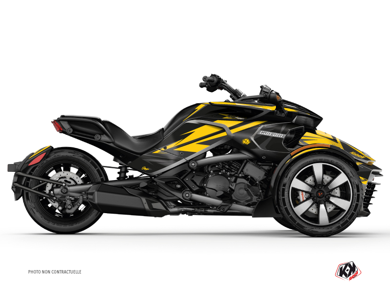 Can Am Spyder F3 Roadster Stage Graphic Kit Yellow