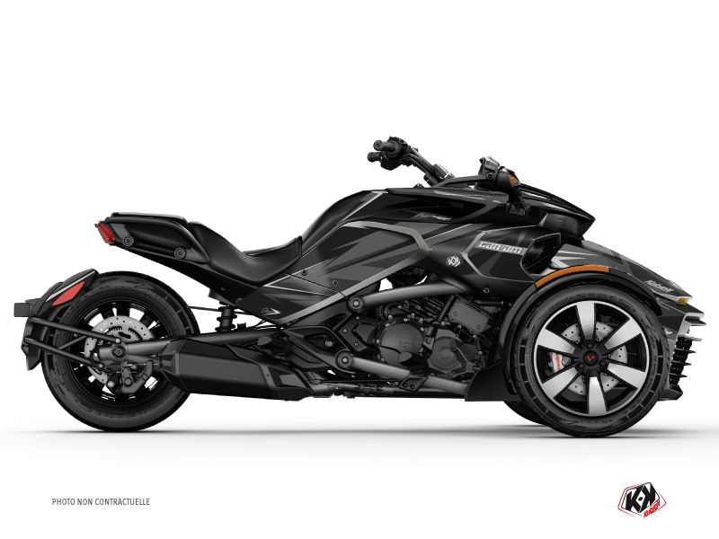 Kit Déco Hybride Stage Can Am Spyder F3 Limited Noir Gris