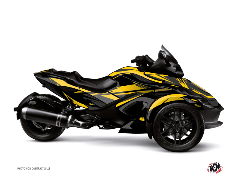 Kit Déco Hybride Stage Can Am Spyder RT Limited Jaune