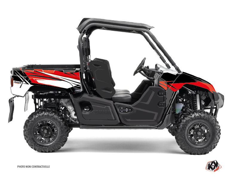 Yamaha Viking UTV Stage Graphic Kit Black Red