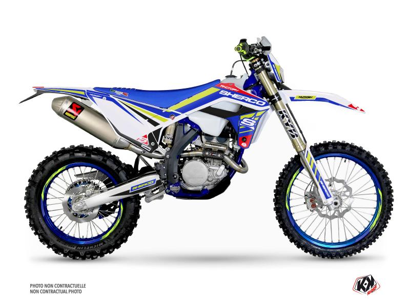 Sherco SE / SEF Dirt Bike Stam Graphic Kit White