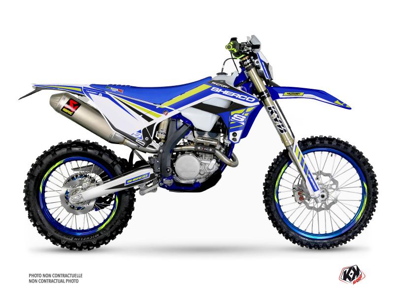 Sherco SE / SEF Dirt Bike Stam Graphic Kit Blue