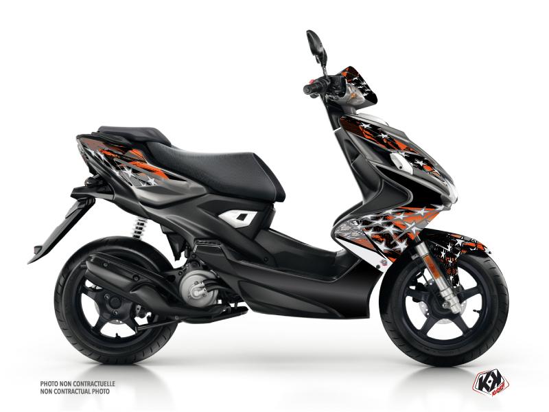 Yamaha Aerox Scooter Stars Graphic Kit Orange