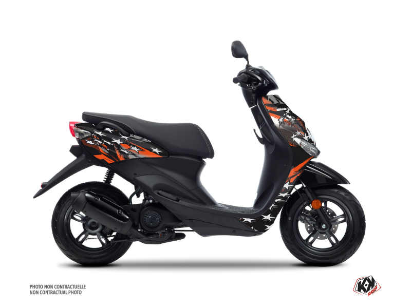Kit Déco Scooter Stars MBK Ovetto Orange