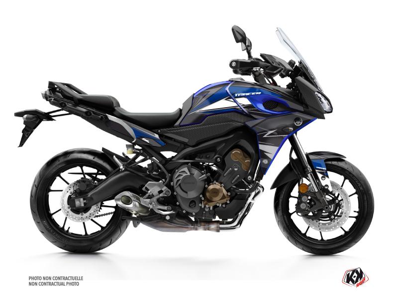 Yamaha TRACER 900 Street Bike Steel Graphic Kit Black Blue