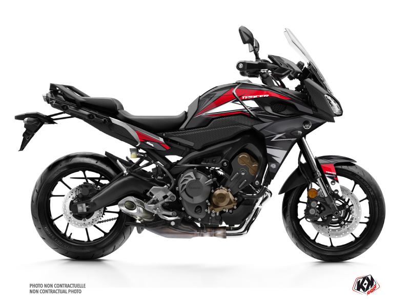 Yamaha TRACER 900 Street Bike Steel Graphic Kit Black Red