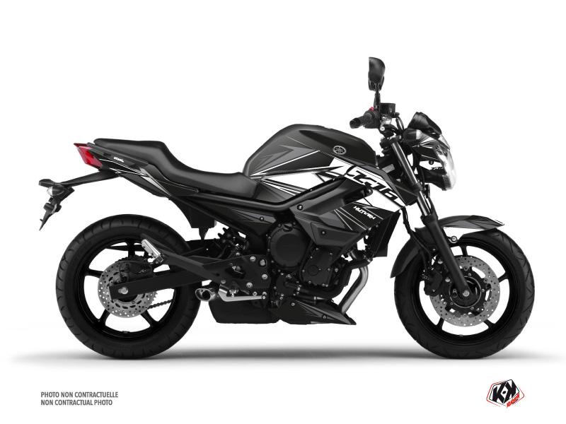 Yamaha XJ6 Street Bike Steel Graphic Kit Black White