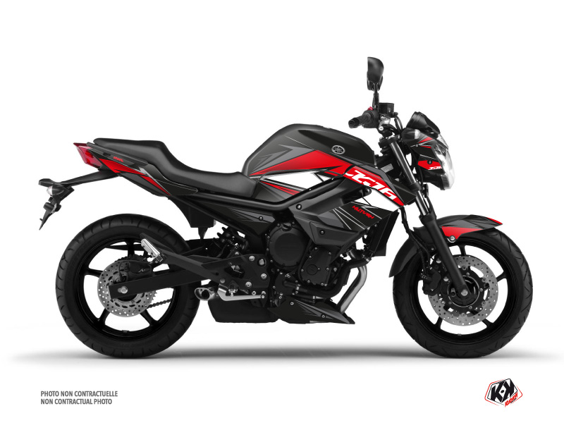 Yamaha XJ6 Street Bike Steel Graphic Kit Black Red
