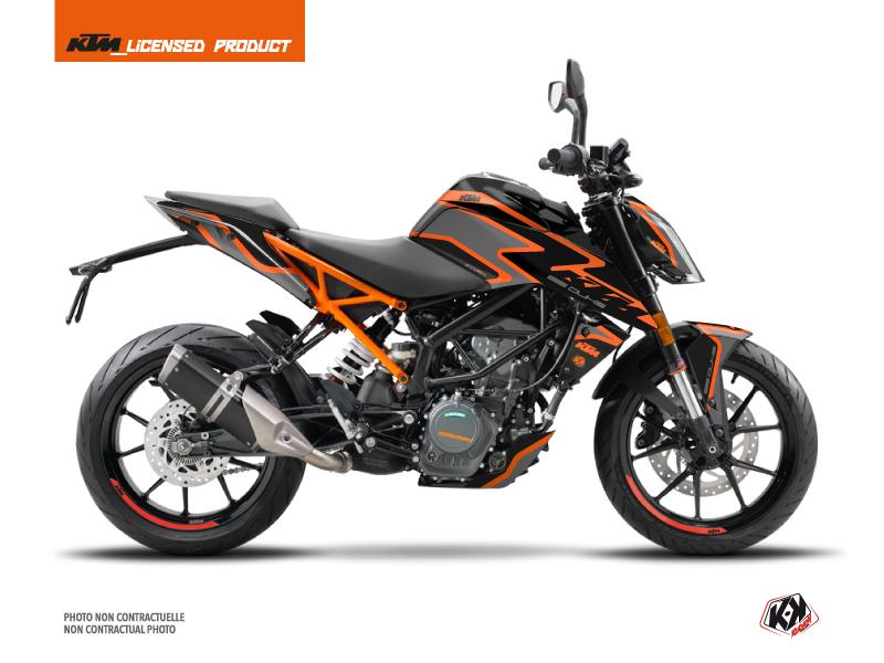 Kit Déco Moto Storm KTM Duke 125 Noir Orange
