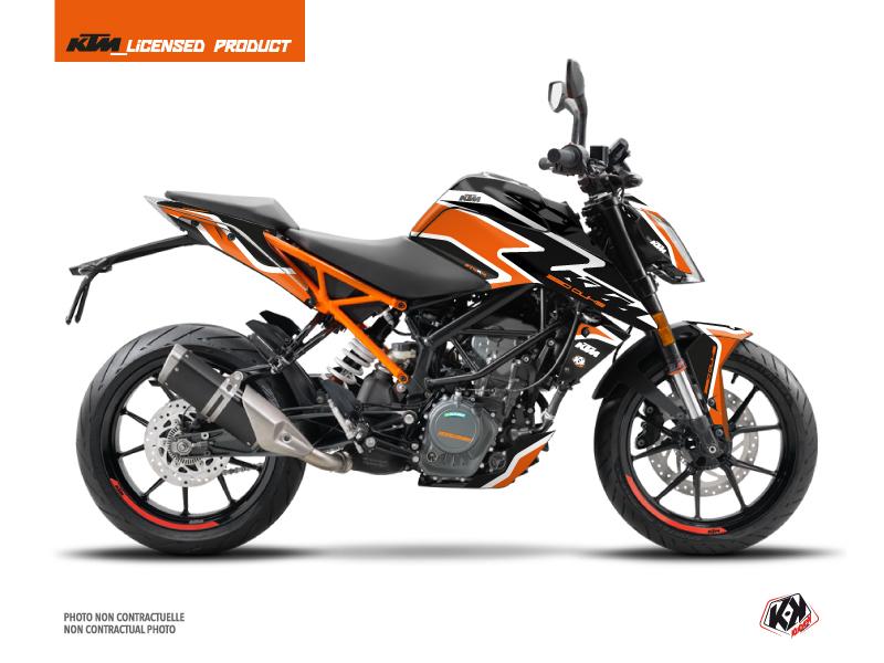 Kit Déco Moto Storm KTM Duke 125 Orange Noir