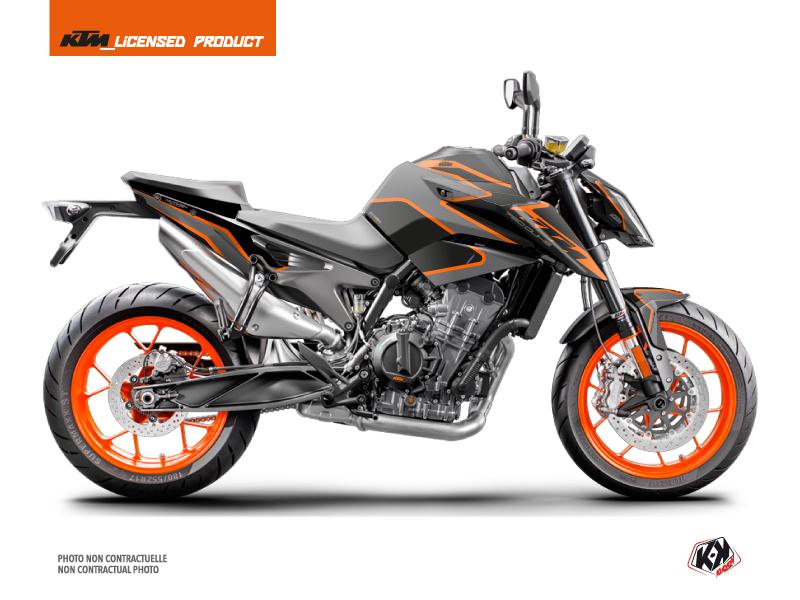 KTM Duke 790 Street Bike Storm Graphic Kit Black Orange
