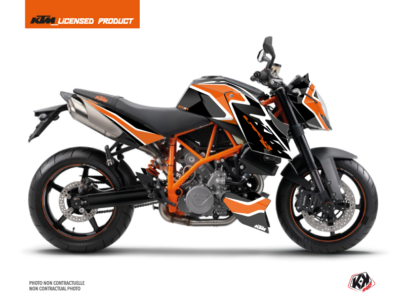 KTM Super Duke 990 Street Bike Storm Graphic Kit Orange Black