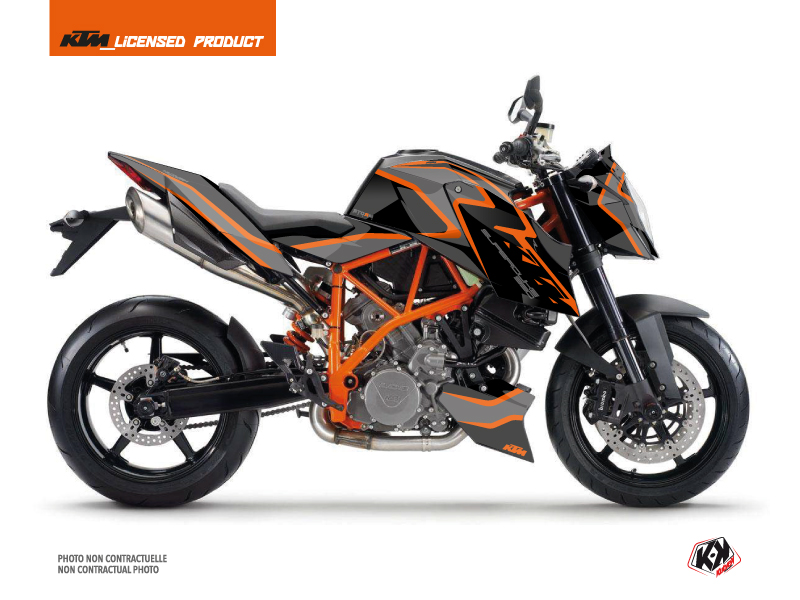 KTM Super Duke 990 R Street Bike Storm Graphic Kit Black Orange