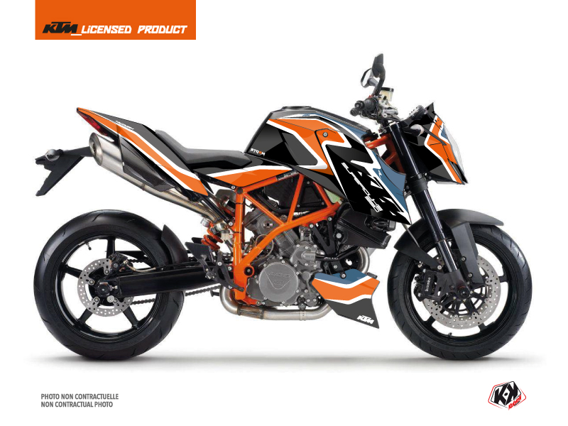 KTM Super Duke 990 R Street Bike Storm Graphic Kit Orange Blue