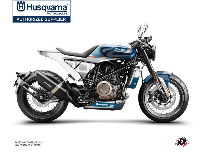 Husqvarna Vitpilen 701 Street Bike Straight Graphic Kit White Blue