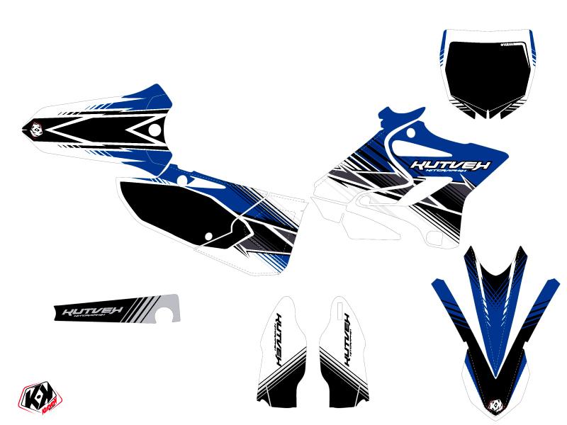 Yamaha 125 YZ Dirt Bike Stripe Graphic Kit Blue
