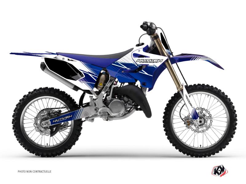 Kit Déco Moto Cross Stripe Yamaha 125 YZ Bleu Nuit