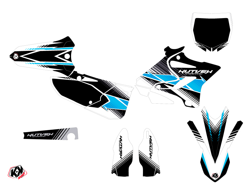 Kit Déco Moto Cross Stripe Yamaha 125 YZ Noir