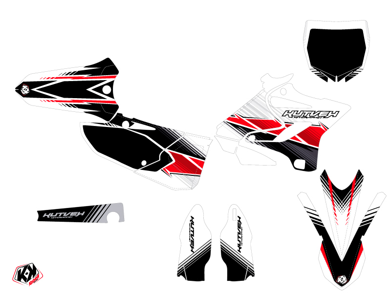 Yamaha 125 YZ Dirt Bike Stripe Graphic Kit Red