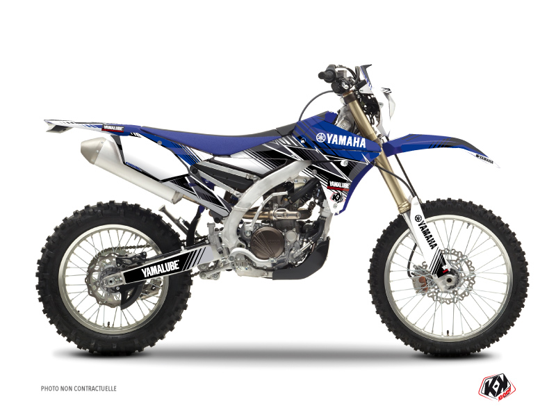 Yamaha 250 WRF Dirt Bike Stripe Graphic Kit Blue